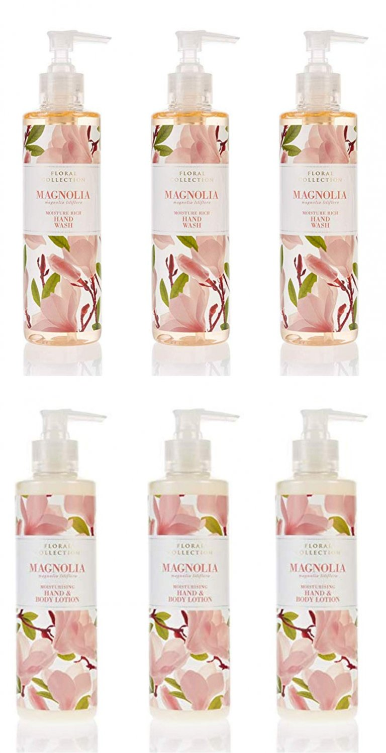 MARKS & SPENCER Magnolia Hand & Body Lotion 250 ml (3 Pack). MA