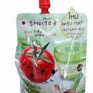 3 Packs of Smooto Tomato Aloe Snail Jelly Scrub. (50 ml./ pack).