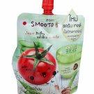2 Packs of Smooto Tomato Aloe Snail Jelly Scrub. (50 ml./ pack).