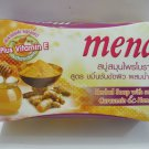 Mena Herbal Soap with Scrub Curcumin Honey Anti aging Acne Dark Sp