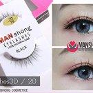X3 MAN SHONG COSMETIC EYELASHES 100 NATURAL HAIR BLACK Eyelashes3D /2