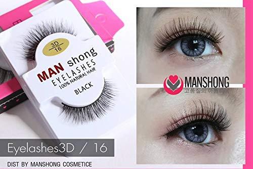 X3 MAN SHONG COSMETIC EYELASHES 100 NATURAL HAIR BLACK Eyelashes3D /1