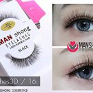 X3 MAN SHONG COSMETIC EYELASHES 100 NATURAL HAIR BLACK Eyelashes3D /1
