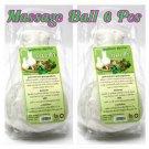 Massage Ball 6 Pcs Thai Herbal Natural Massage Ball for Body Relax