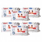 Pigeon Baby Wipes Moisturizing Cloths 60 Sheets / Pack 6 Pack.