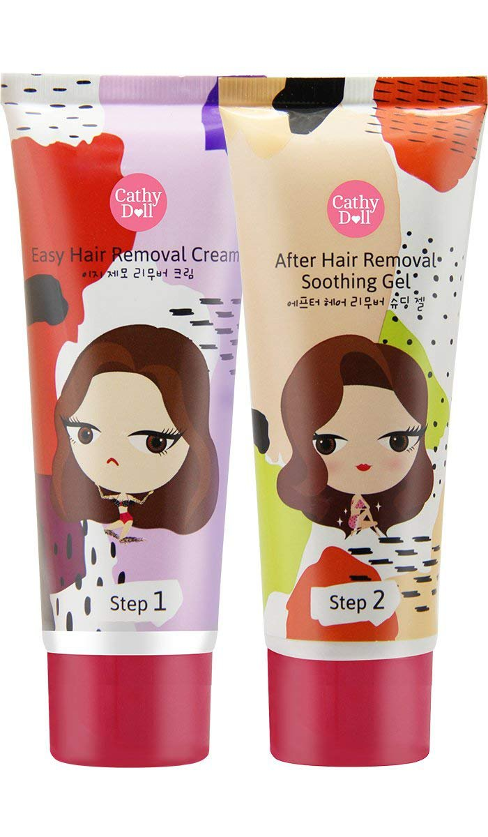 Cathy Doll Easy Hair Removal CreamAfter Hair Removal Soothing Gel 70+