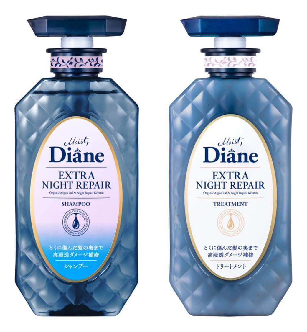 MOIST DIANE Extra Night Repair Shampoo and Conditioner 450 ml.