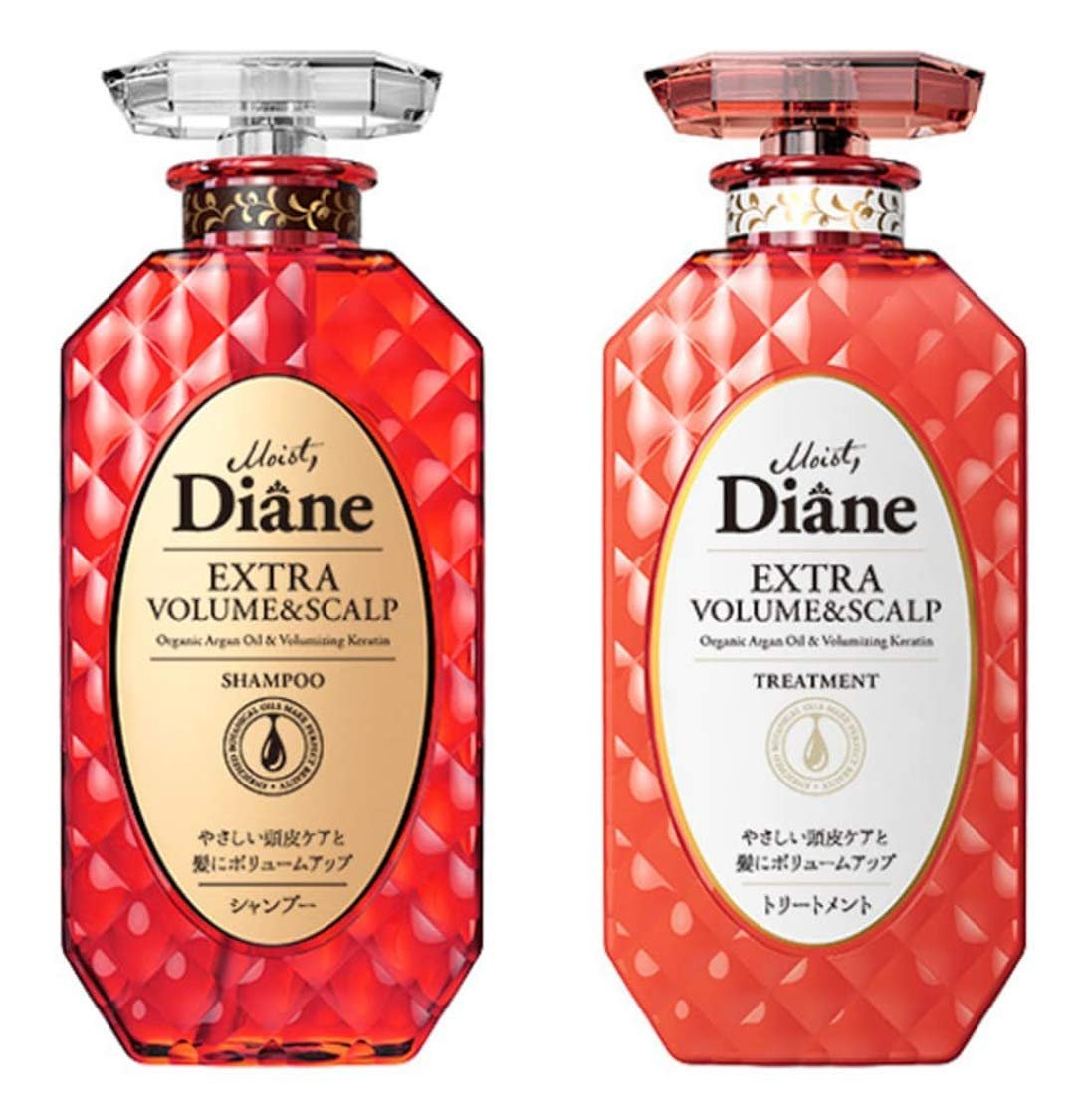 MOIST DIANE Volume and Scalp Shampoo and Conditioner 450 ml.