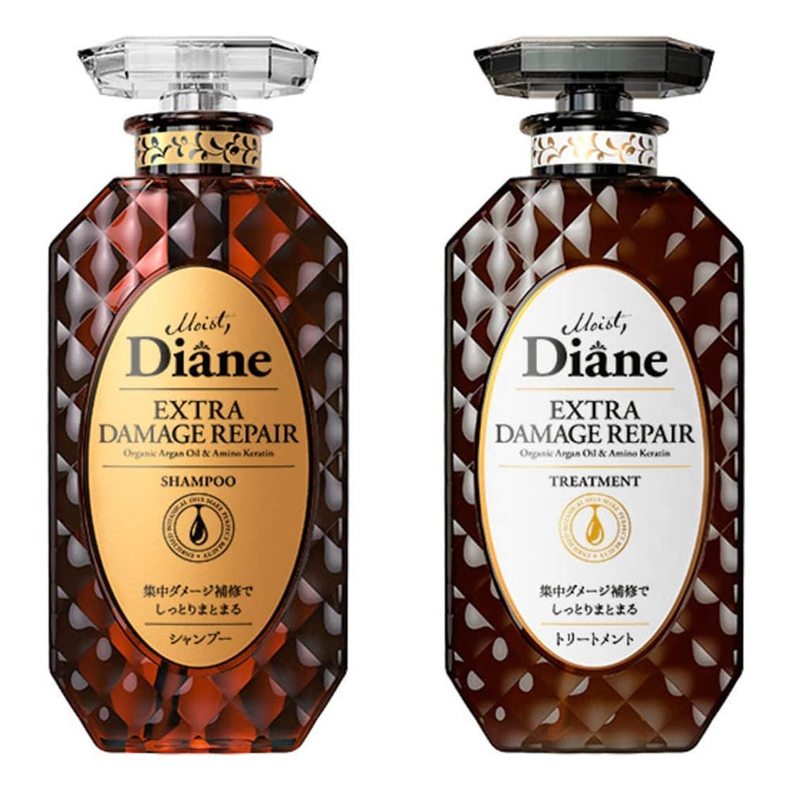 MOIST DIANE Extra Damage Shampoo and Conditioner 450 ml.