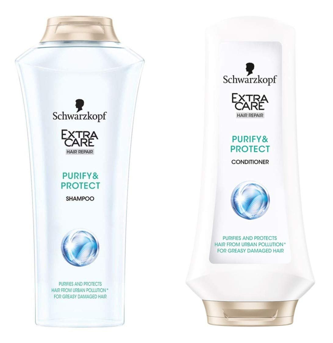EXTRA CARE Purify and Protect Shampoo and Conditioner 400 ml.