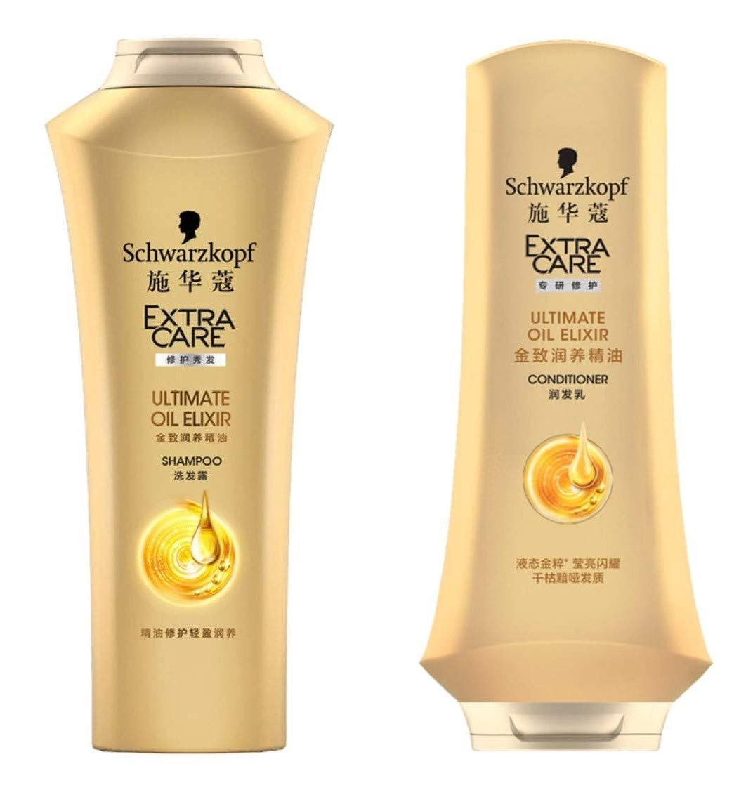 EXTRA CARE Ultimate Oil Elixir Shampoo and Conditioner 400 ml.