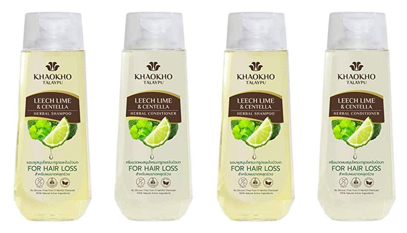 Khaokho Talaypu Leech Lime&Centella Herbal Shampoo 330 ml. x 2 pcs.