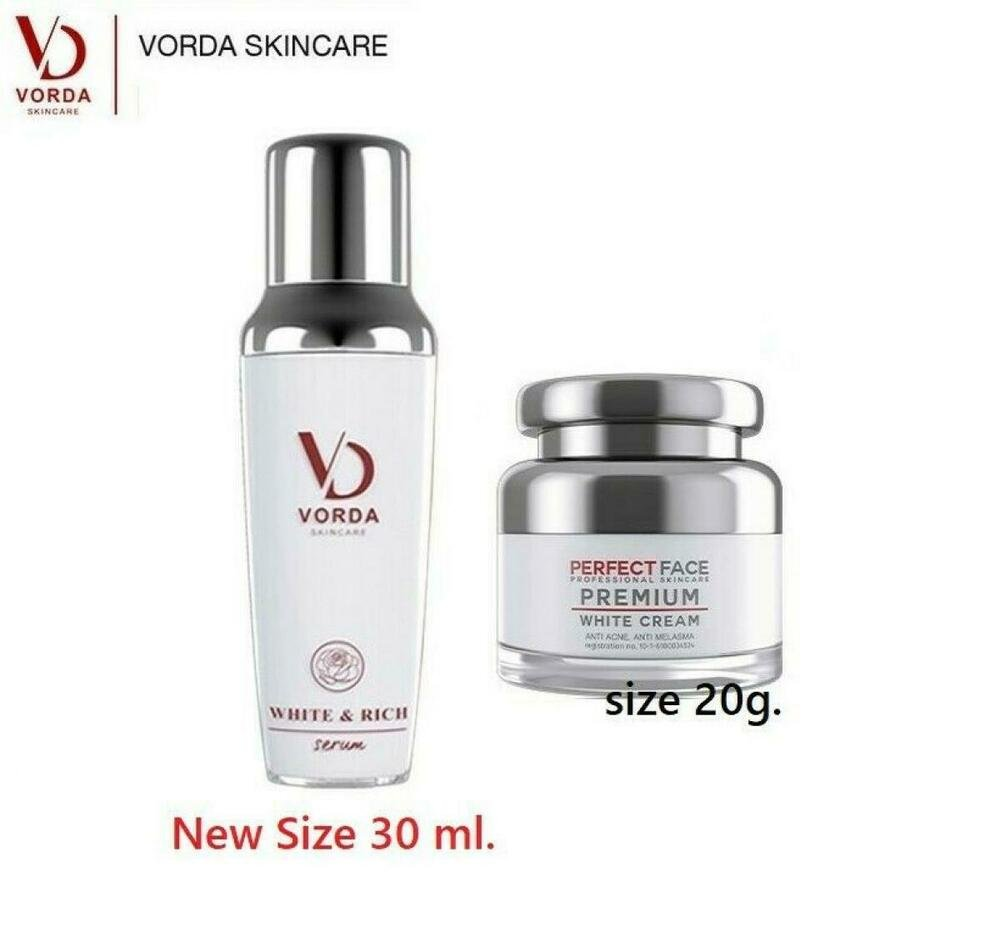 Duo Vorda Serum White Rich Natural Alpine Rose Flowers Extracts and