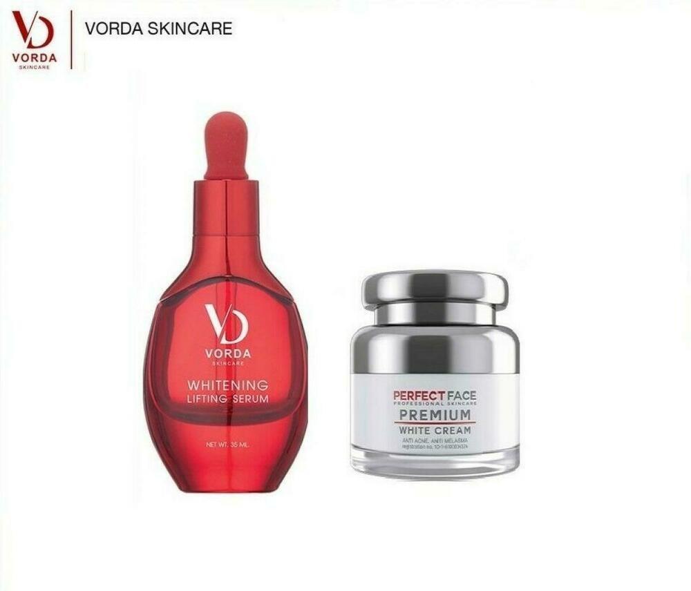 Duo VORDA Whitening Lifting Rich Perfect Serum plus Cream Reduce frec
