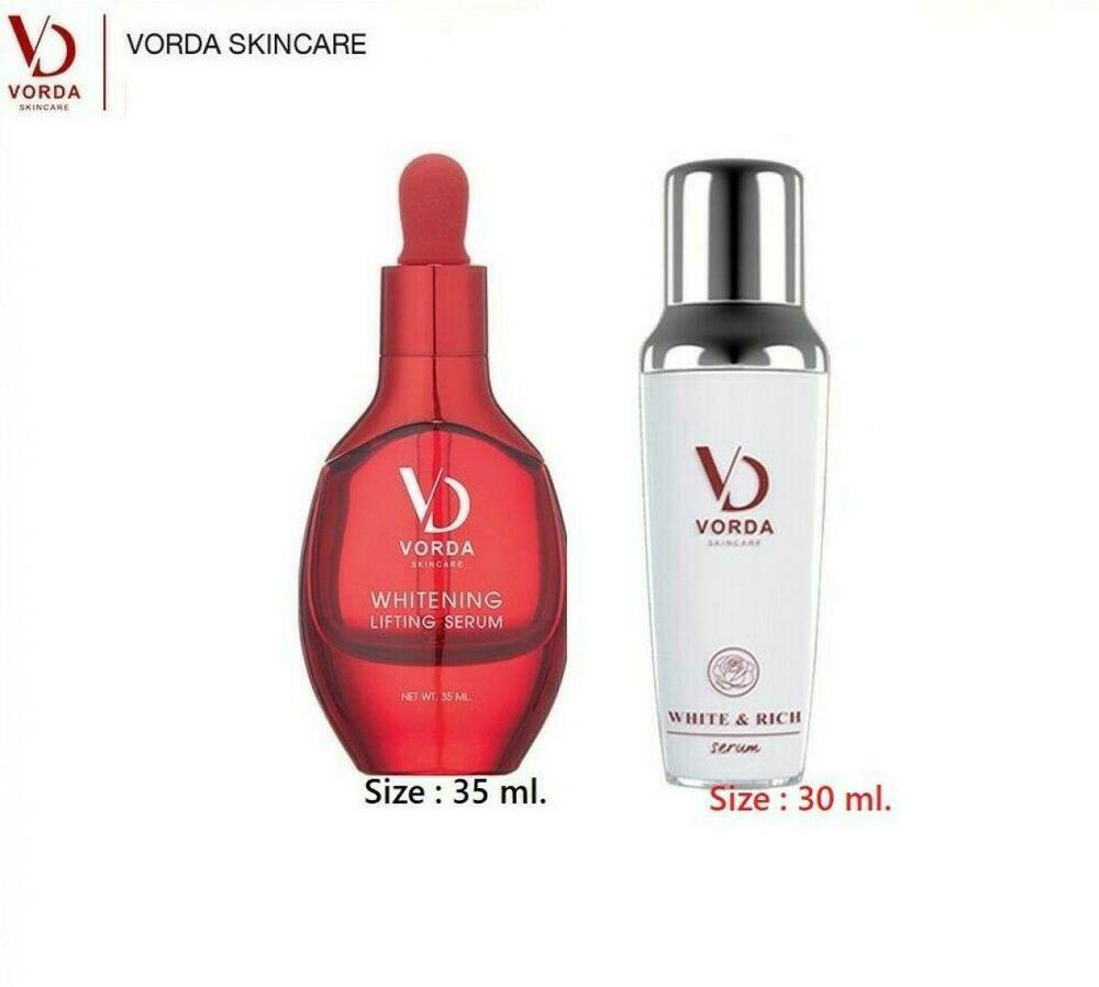 Duo VORDA Whitening Lifting Serum Rich Natural Rose Flowers Extracts