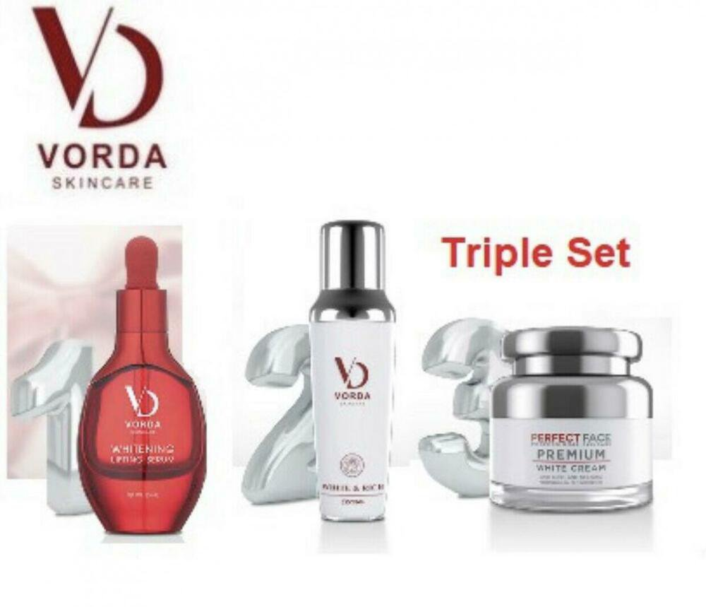 Triple Set VORDA Whitening Lifting Rich Perfect Serum plus Cream Redu