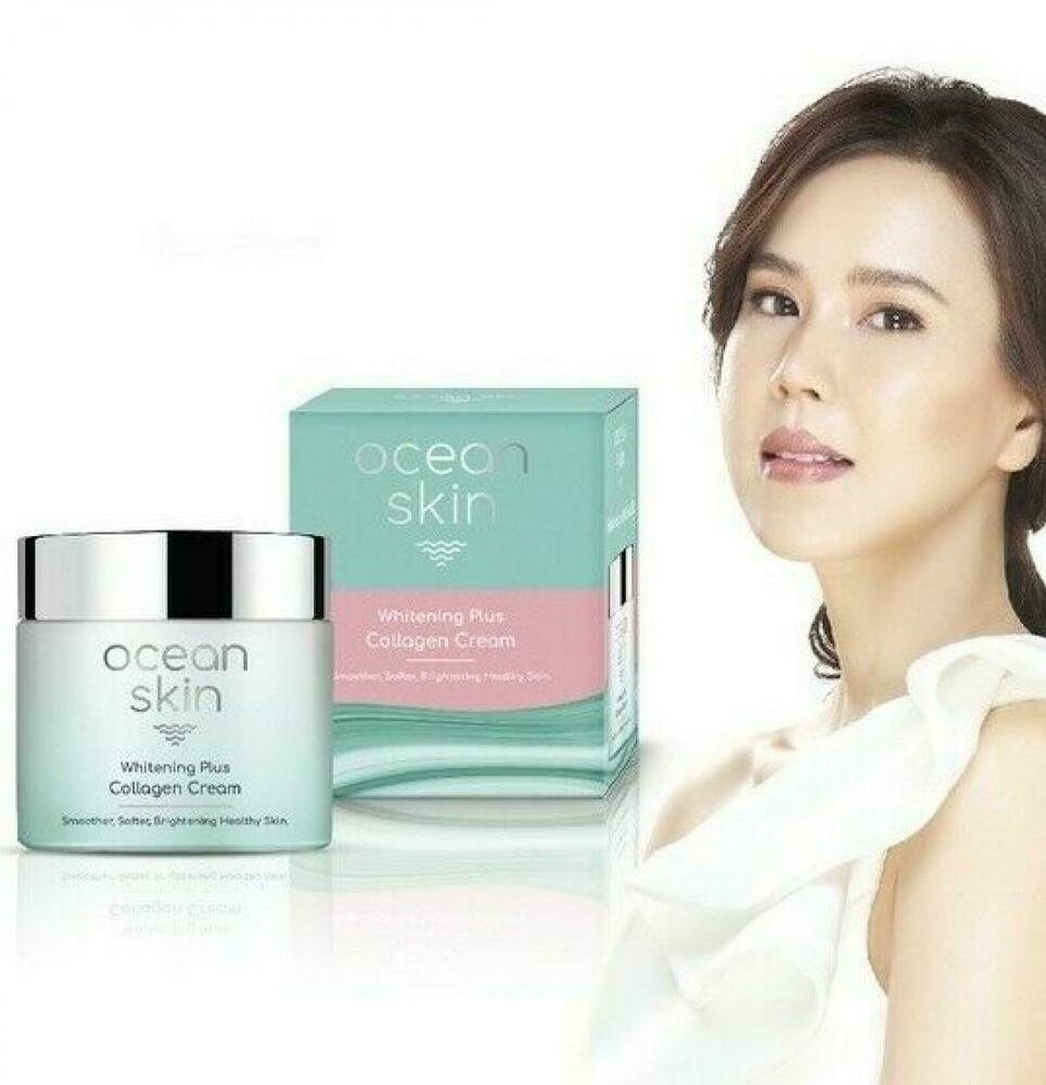 Ocean Skin Whitening Plus Collagen Cream Smoother Softer Brightening Ski