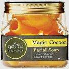 3 x Phutawan Magic Cocoon Facial Soap Natural Thai Gold Silk Magic