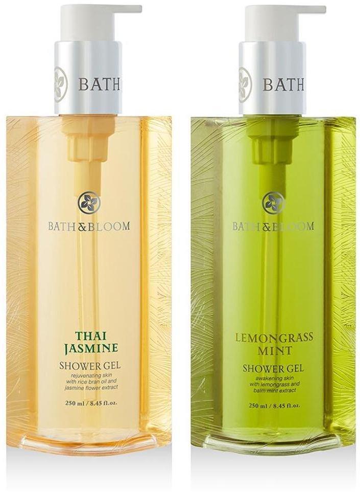 NEW!! SET A66 BATH & BLOOM THAI JASMINE SHOWER BATH & BLOOM LEMONGRASS MINT SHOWE WATSONS DHL EXPR
