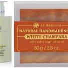 WATSONS BATH & BLOOM WHITE CHAMPAKA SOAP SET A74 NEW!! BATH & BLOOM LEMONGRASS MINT BODY DHL EXPRE