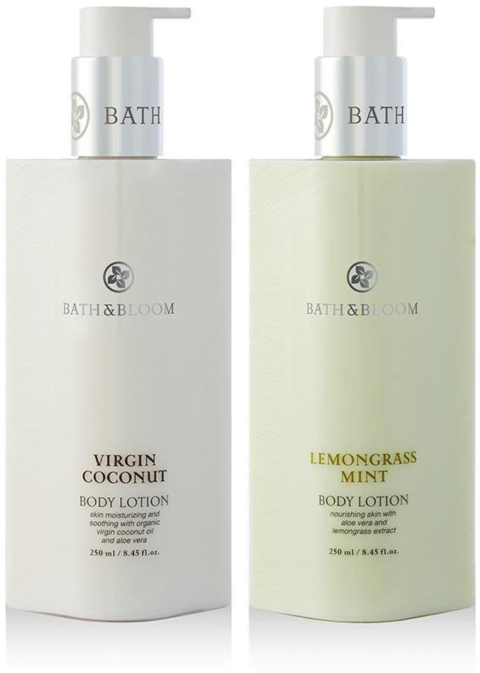 BATH & BLOOM VIRGIN COCONUT BODY BATH & BLOOM LEMONGRASS MINT BODY SET A70 NEW!! WATSONS DHL EXPRE