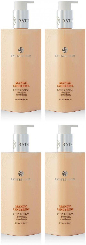 BATH & BLOOM MANGO TANGERINE BODY LOTION 250 ML. DHL EXPRESS SET A42 NEW!!  (PACKS OF  4 )