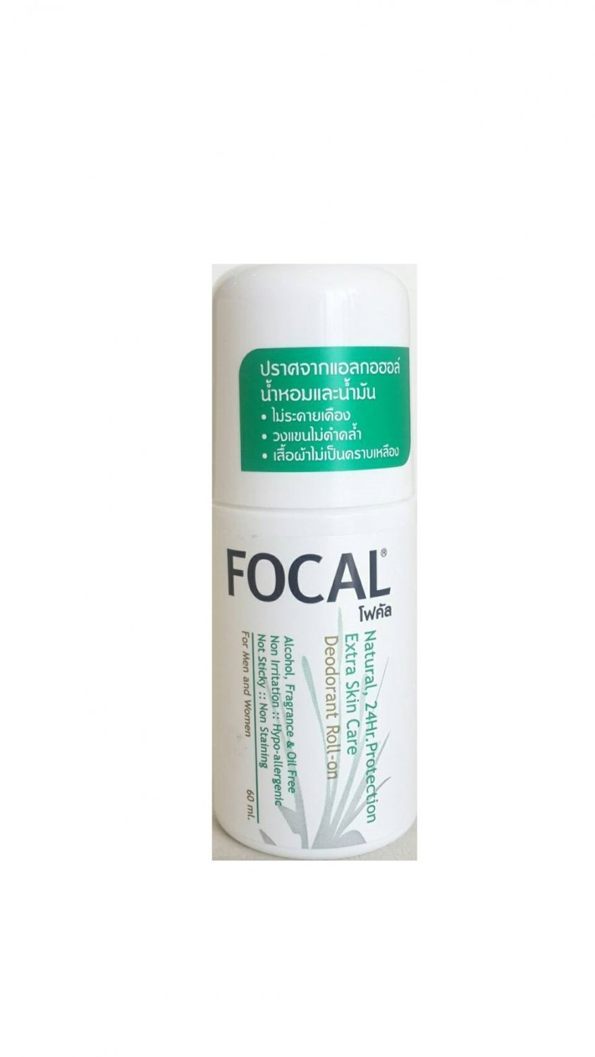 Focal Natural Deodorant Roll-on 24 Hr.Protection Extra Skin Care Alcohol