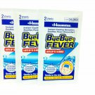 3 Packs of Byebye Fever Instant Coolong Sensation Soothes Fever Disco