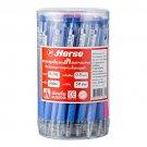 Horse Ballpoint pen 0.5mm H-301 Blue ink, Random Color, Pack 50 pc