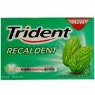 Trident Recaldent Chewing Gum Spearmint Flavored Sugar Free Dental Healt