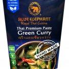 3x Blue Elephant brand Royal Thai Cuisine GREEN CURRY PASTE Wt. 70