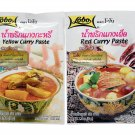 Curry Paste Sampler 4-Pack: Penang Curry Paste Red Curry Paste, Yello