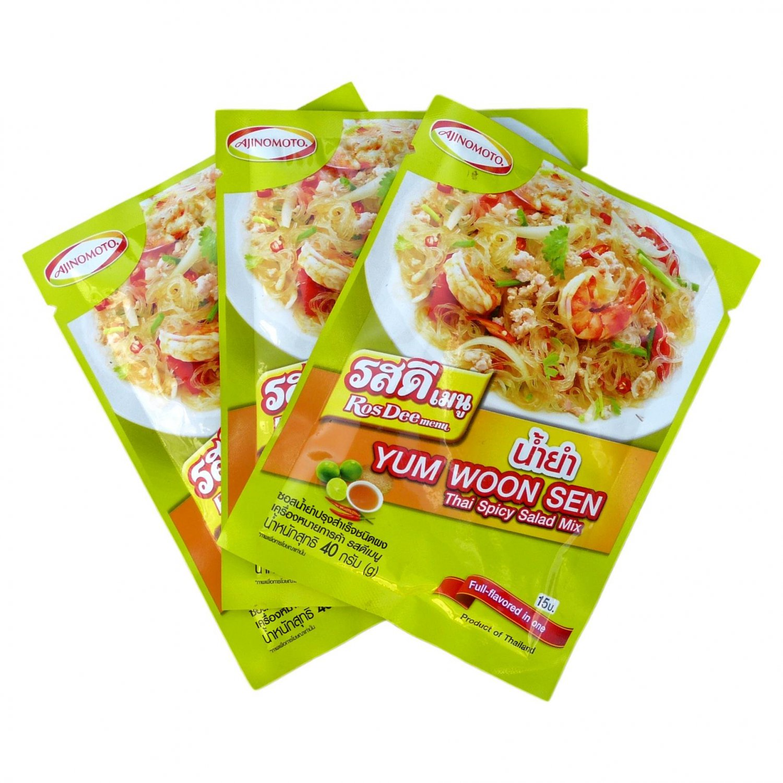 RosDee menu Thai Spicy Salad Powder 3 Pack