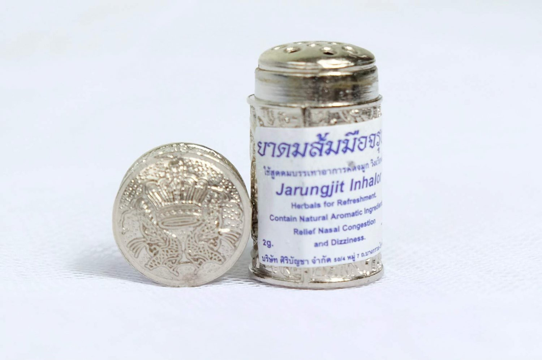 Thai Herbal Inhaler Jarungjit Relief Nasal Dizziness Aroma Refresh 2