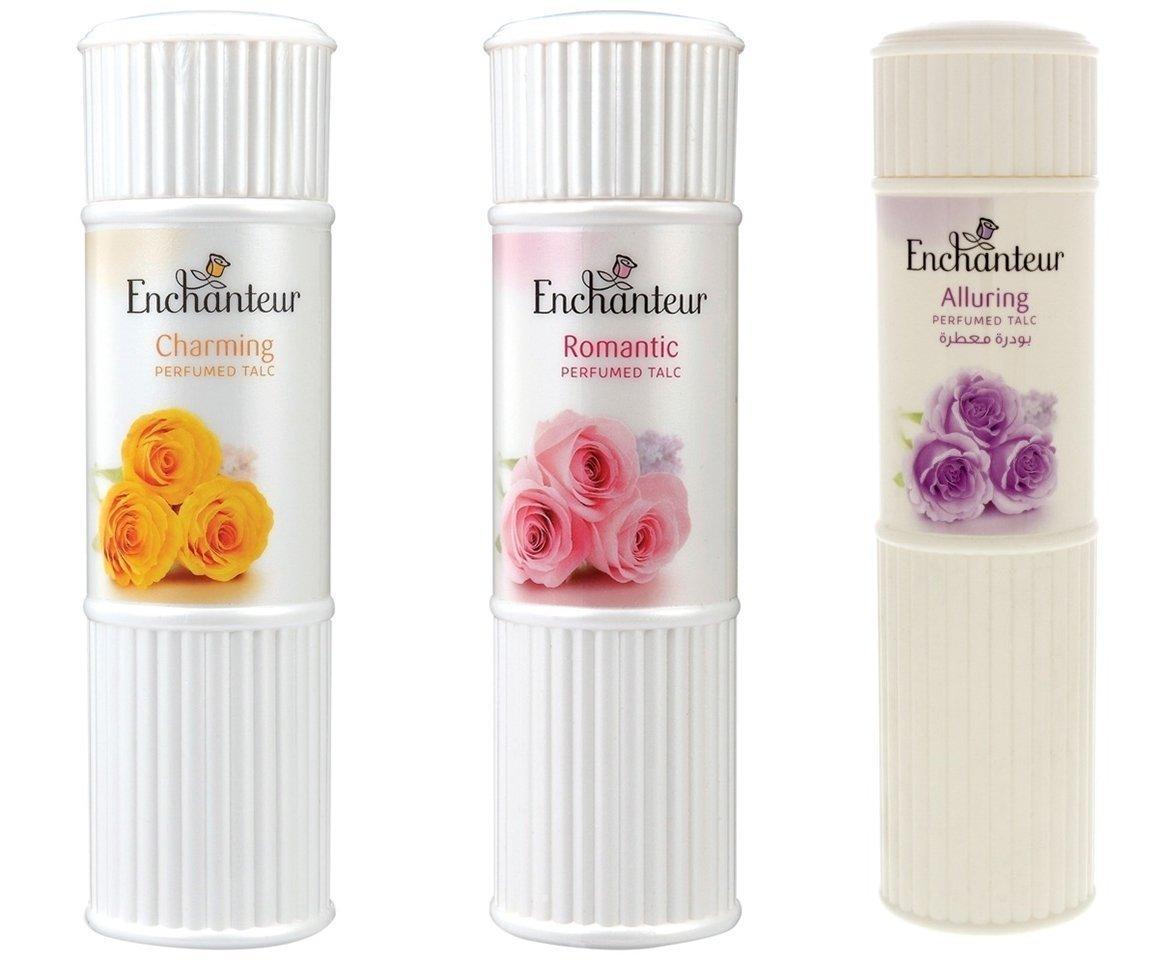 Enchanteur Perfumed Body Talcum Powder Charming Romantic & Alluring Scen