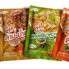 4 mix of Rosdee Menu Seasoning Powder (Green Curry Powder Tom Yum