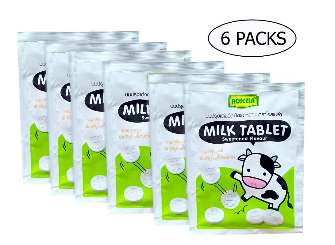 Milk Tablet Sweetened Flavour 20g x 6 Packs
