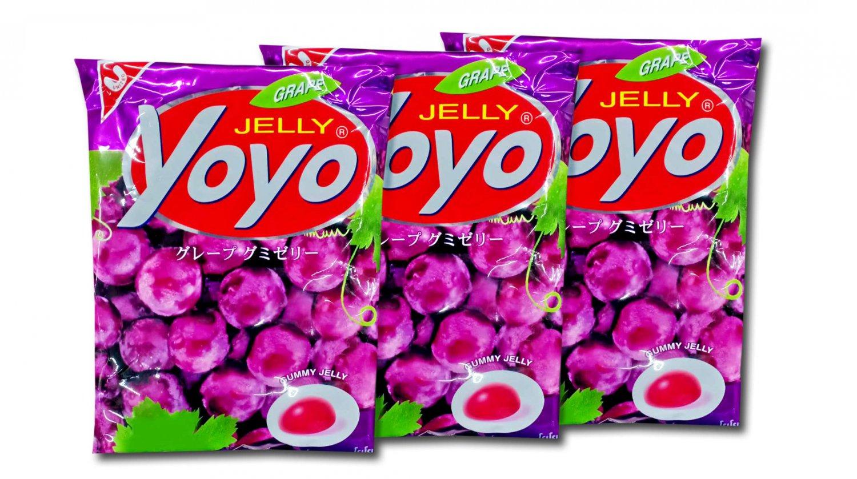 YOYO Jelly Fruity Gelatin Gummy Jelly Desert Size 80 Grams x 3