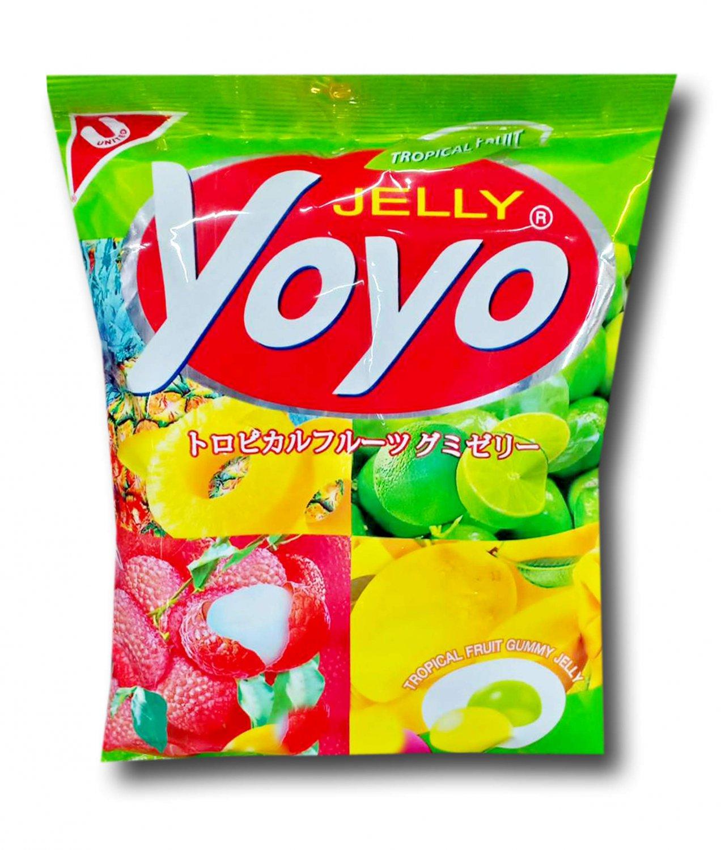 4x YOYO Jelly Fruity Gelatin Gummy Jelly Desert Size 80 Grams (TRO