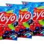 YOYO Jelly Fruity Gelatin Gummy Jelly Desert Size 80 Grams x 5