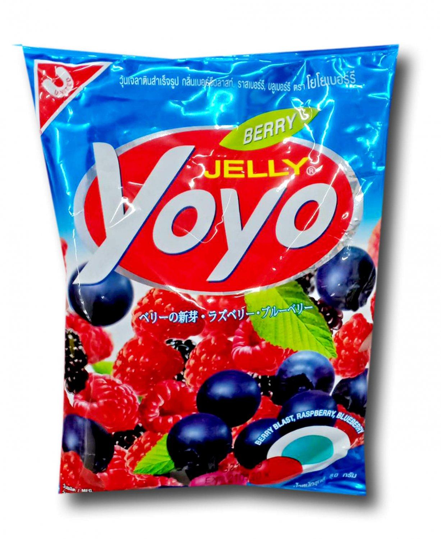 4x YOYO Jelly Fruity Gelatin Gummy Jelly Desert Size 80 Grams (3