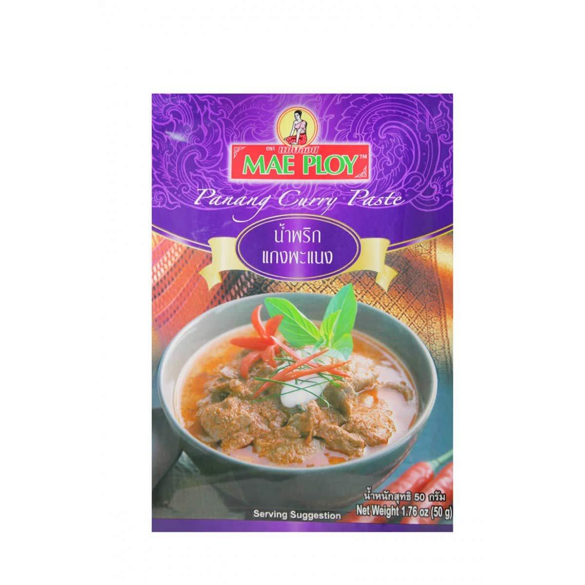 MAE PLOY BRAND Panang Curry Paste, 50g(1.76oz) X 4 Packs