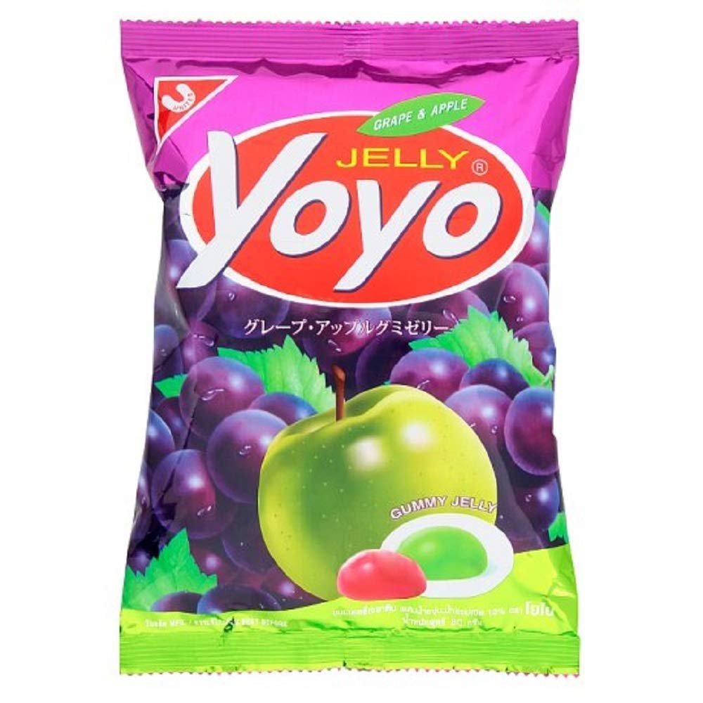 5x YOYO Gummy Jelly, Grape Flavor and Apple Flavor 80 g