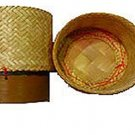 4x Big Size Thailand Handwoven Bamboo Container Handmade Sticky Rice