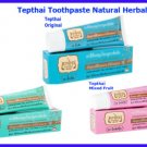 3 Type of 3x70 grams Thep Thai herbal toothpaste care for gum p