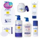 Set AR Vitamin E Body Moisturizing Whiten Serum Lotion Bath Shower