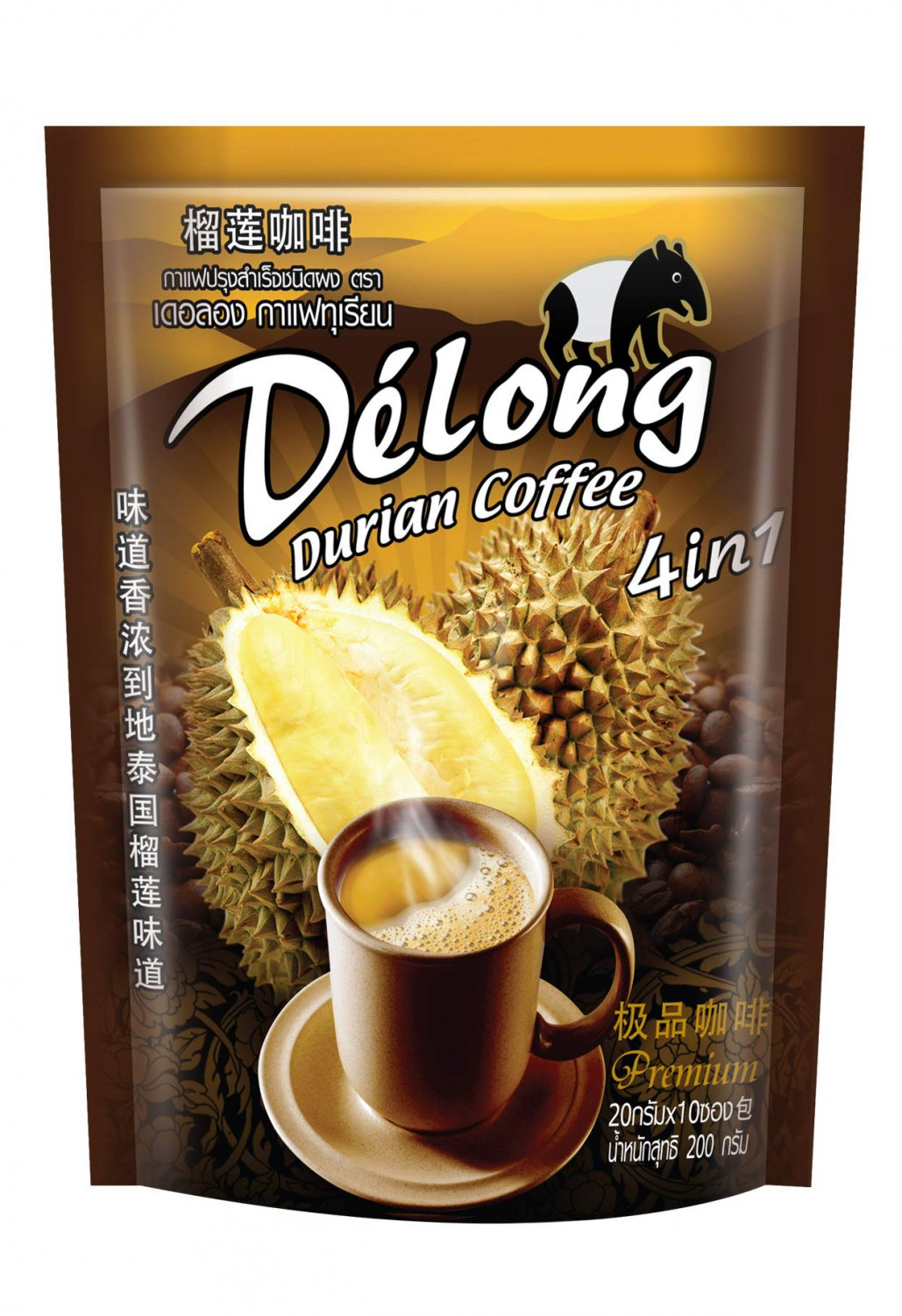 DeLong ( Delong ) 4 in 1 Premium Durian Coffee - Real Durian