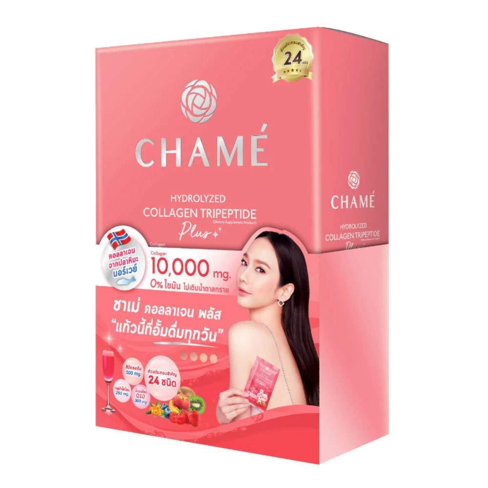 Chame White Strawberry Collagen Premium Skin White Clear and Tighten