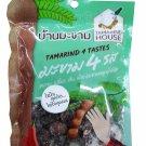 4 Packs of Tamarind 4 Tastes Sweet, Sour, Salty, Spicy. Selected p