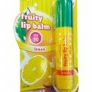 2 Packs of Watsons Fruity Lip Balm SPF10 Lemon Lemon has an Enh